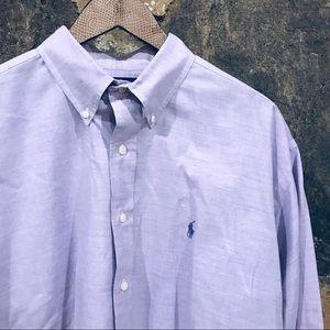 Ralph Lauren purple button down long sleeve shirt
